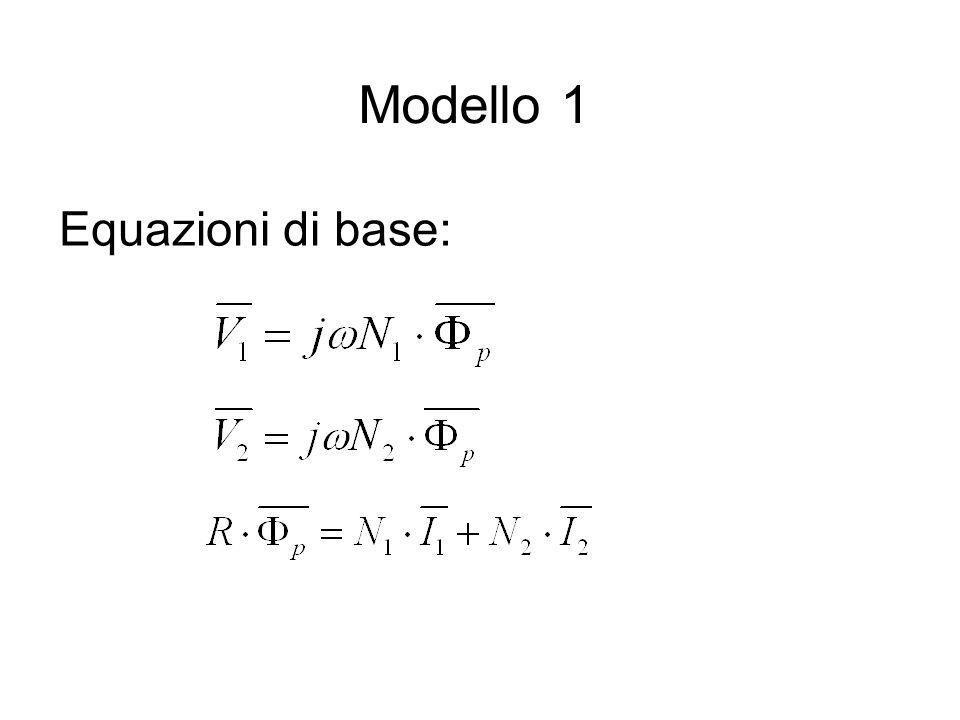 Modello 1 Equazioni di base: