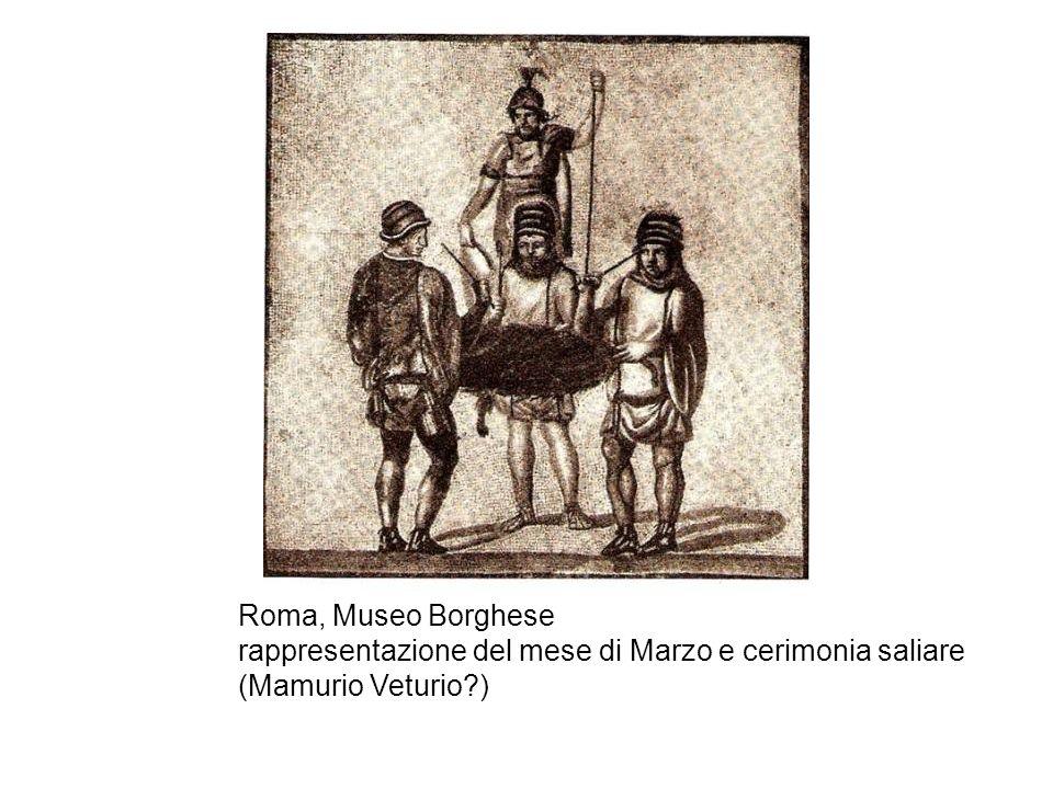 Roma, Museo Borghese rappresentazione del mese di Marzo e cerimonia saliare (Mamurio Veturio?)