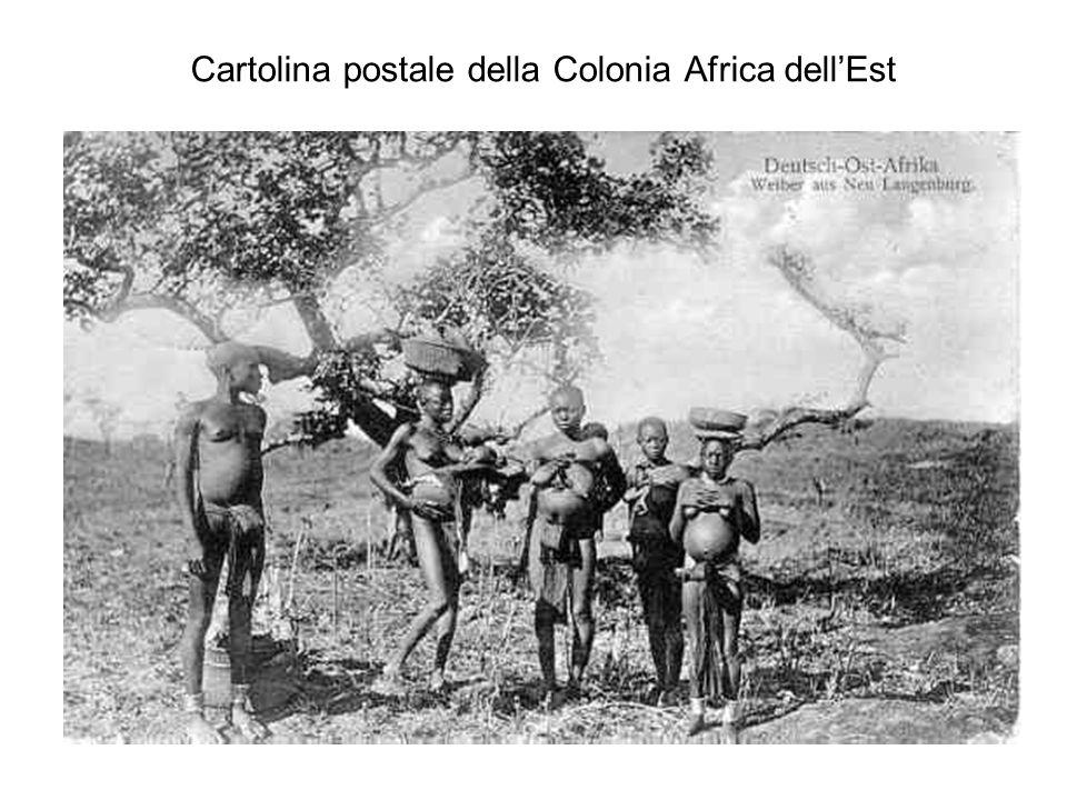 Cartolina postale della Colonia Africa dellEst