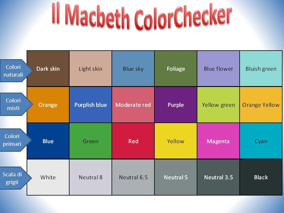 Colori naturali Colori misti Colori primari Scala di grigii