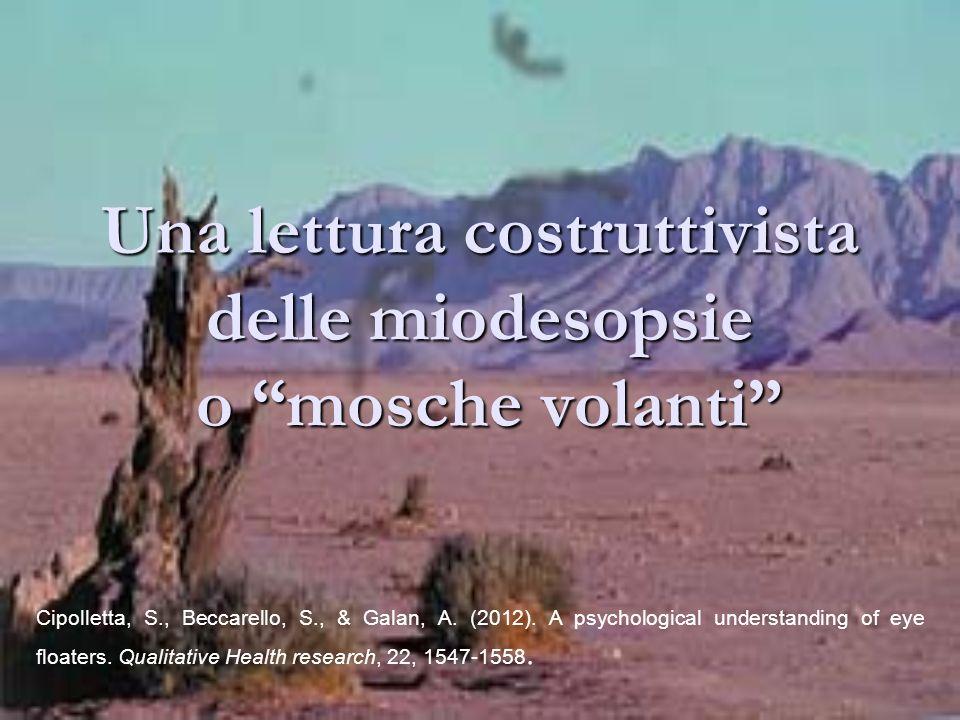 Una lettura costruttivista delle miodesopsie o mosche volanti Cipolletta, S., Beccarello, S., & Galan, A. (2012). A psychological understanding of eye
