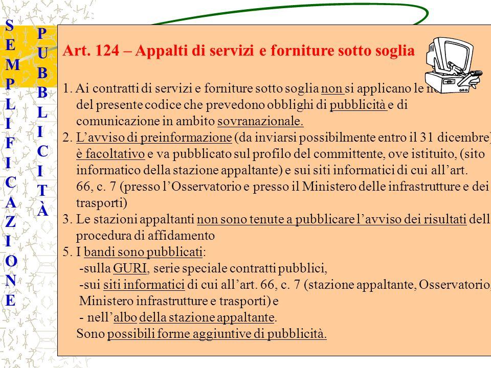 SEMPLIFICAZIONESEMPLIFICAZIONE PUBBLICITÀPUBBLICITÀ Art.