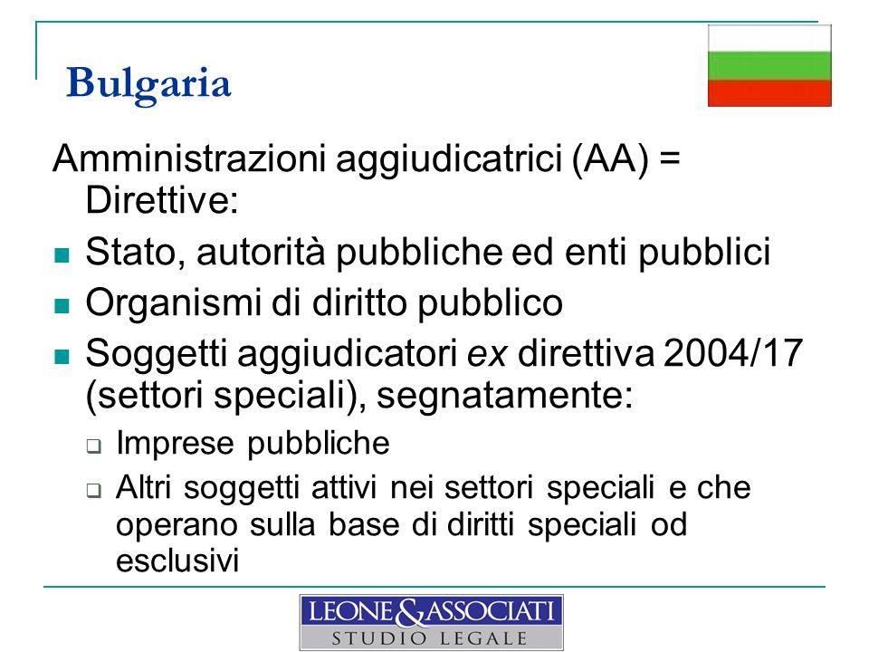 Amministrazioni aggiudicatrici (AA) = Direttive: Stato, autorità pubbliche ed enti pubblici Organismi di diritto pubblico Soggetti aggiudicatori ex di