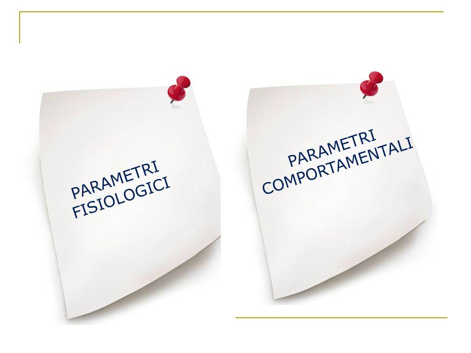 PARAMETRI FISIOLOGICI PARAMETRI COMPORTAMENTALI