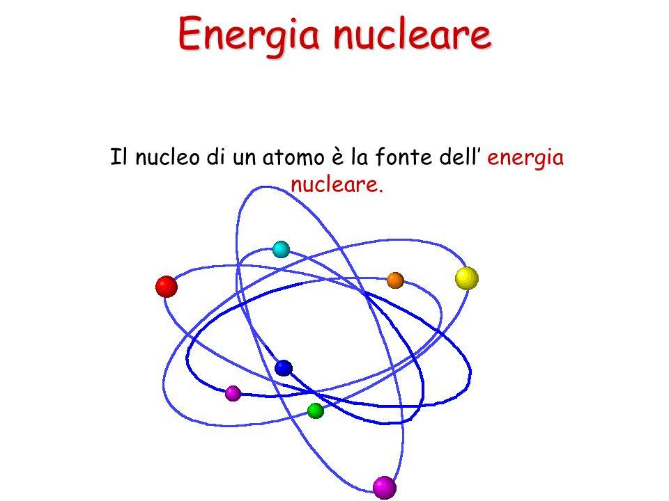 Il nucleo di un atomo è la fonte dell energia nucleare. Energia nucleare