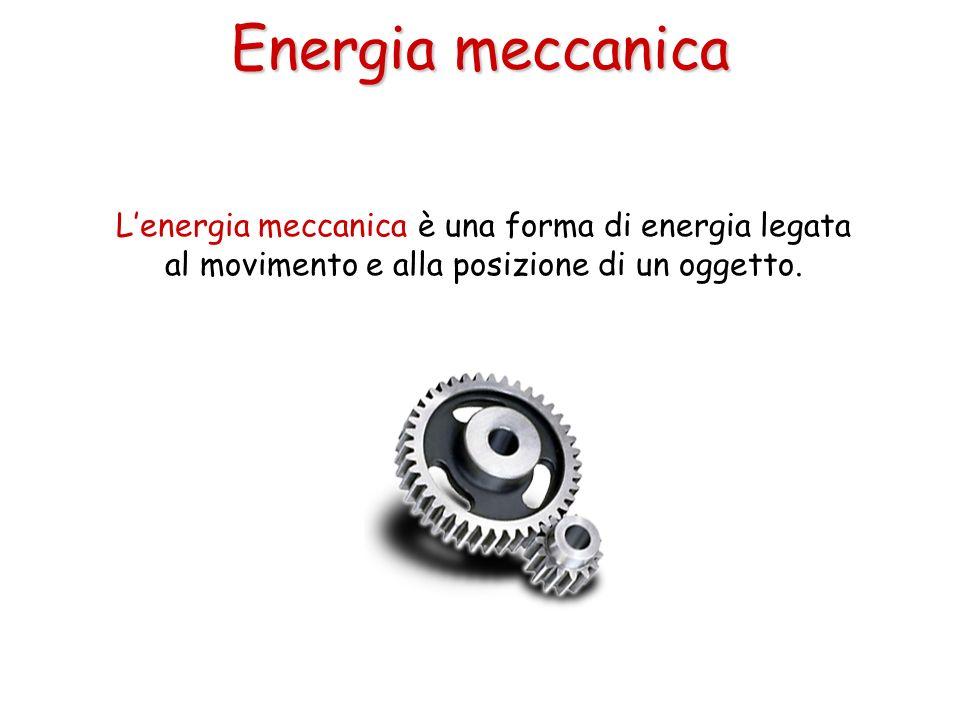 Lenergia meccanica è una forma di energia legata al movimento e alla posizione di un oggetto. Energia meccanica