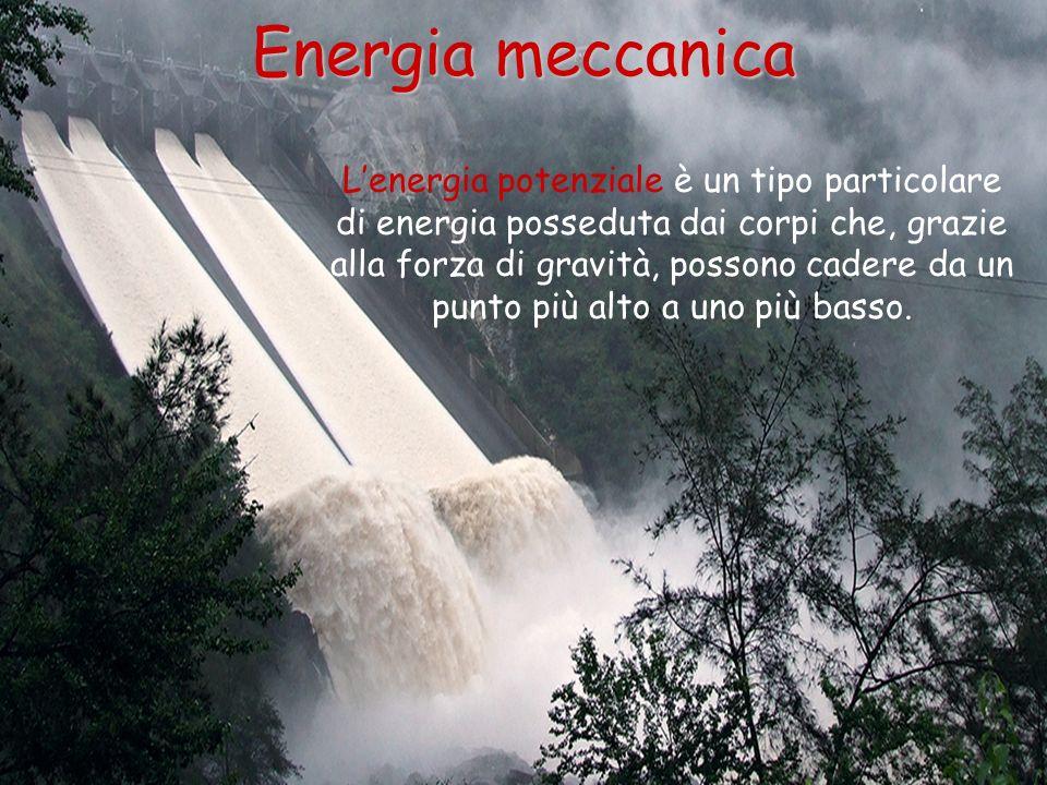 Lenergia potenziale è un tipo particolare di energia posseduta dai corpi che, grazie alla forza di gravità, possono cadere da un punto più alto a uno
