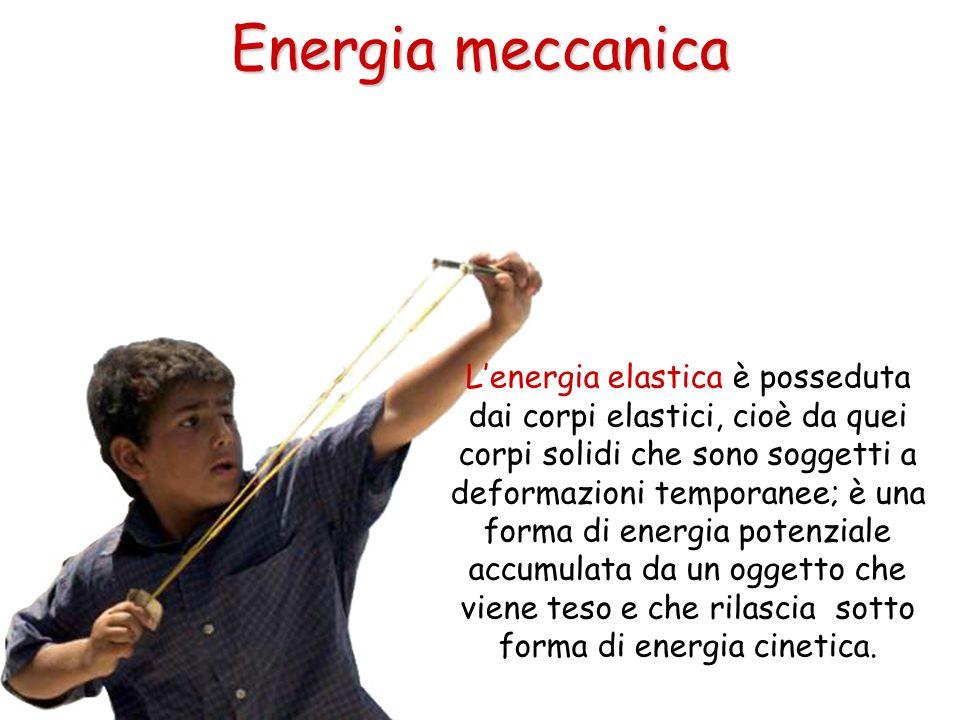 Lenergia elastica è posseduta dai corpi elastici, cioè da quei corpi solidi che sono soggetti a deformazioni temporanee; è una forma di energia potenz