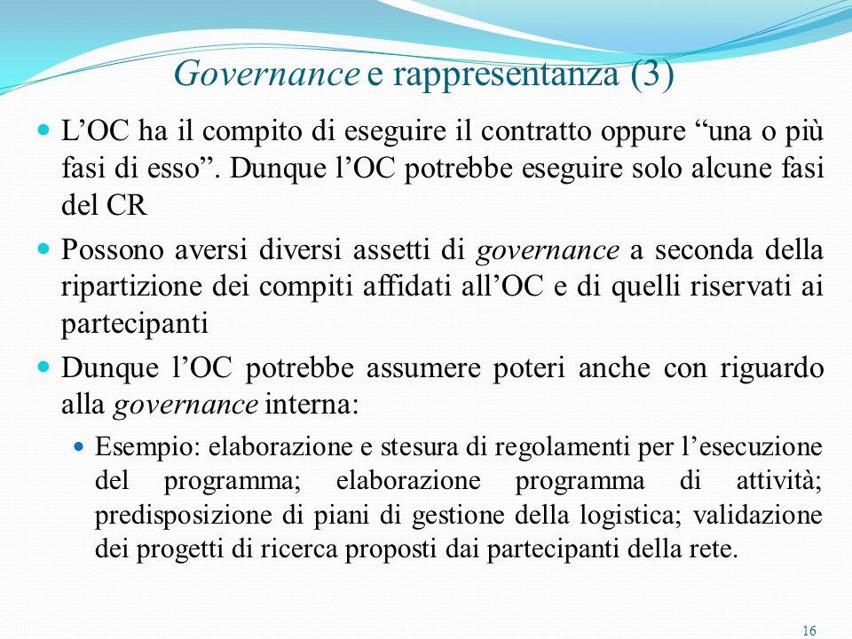 16 Governance e rappresentanza (3) LOC ha il compito di eseguire il contratto oppure una o più fasi di esso.