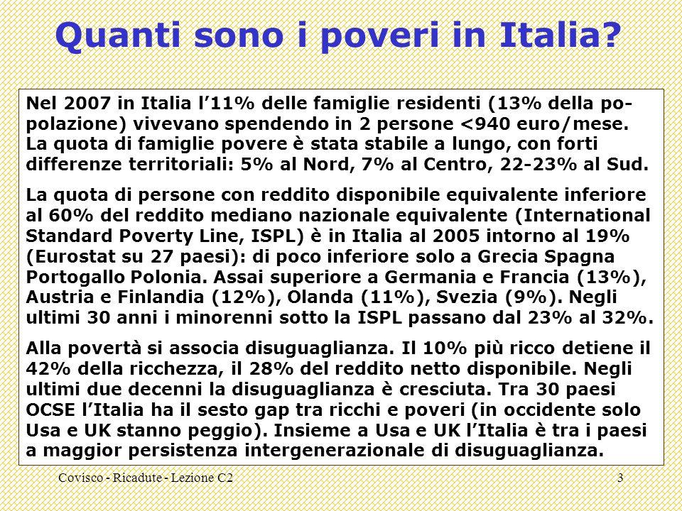 Covisco - Ricadute - Lezione C23 Quanti sono i poveri in Italia.