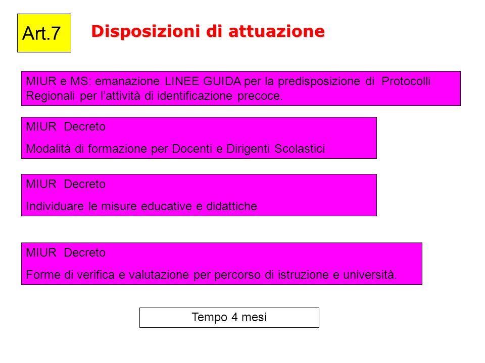 Disposizioni di attuazione Art.7 MIUR e MS: emanazione LINEE GUIDA per la predisposizione di Protocolli Regionali per lattività di identificazione pre