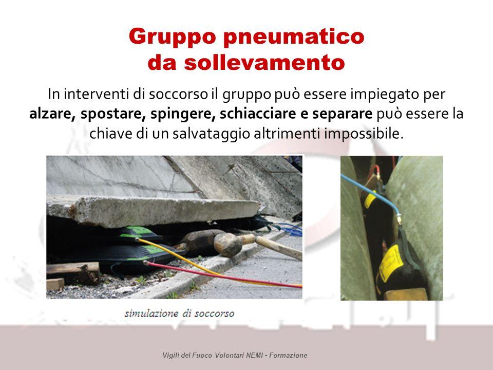 Gruppo pneumatico da sollevamento Vigili del Fuoco Volontari NEMI - Formazione