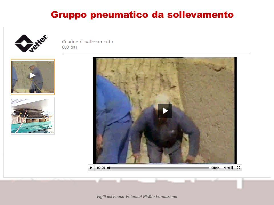 Vigili del Fuoco Volontari NEMI - Formazione Gruppo pneumatico da sollevamento