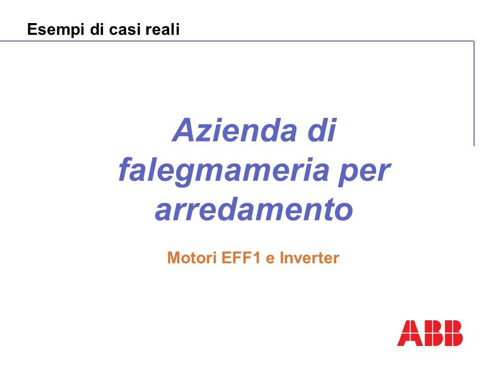 Esempi di casi reali Azienda di falegmameria per arredamento Motori EFF1 e Inverter