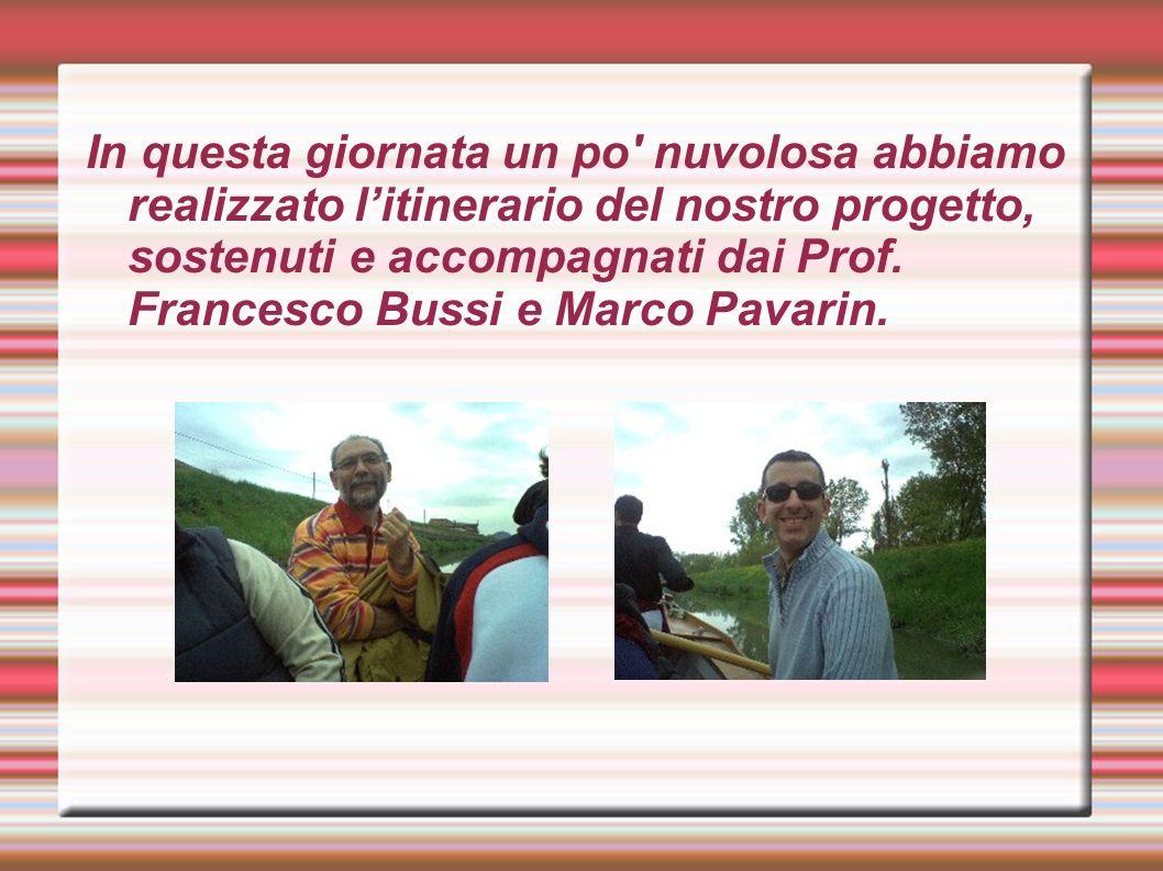 In questa giornata un po' nuvolosa abbiamo realizzato litinerario del nostro progetto, sostenuti e accompagnati dai Prof. Francesco Bussi e Marco Pava