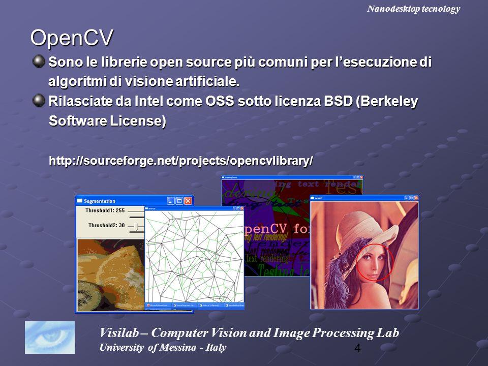 45 Visilab – Computer Vision and Image Processing Lab University of Messina - Italy Nanodesktop tecnology Abbiamo il problema di creare una immagine che abbia le stesse dimensioni della sorgente.