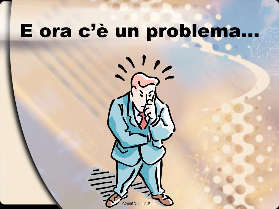 ©2005 Debra A. Read E ora cè un problema…