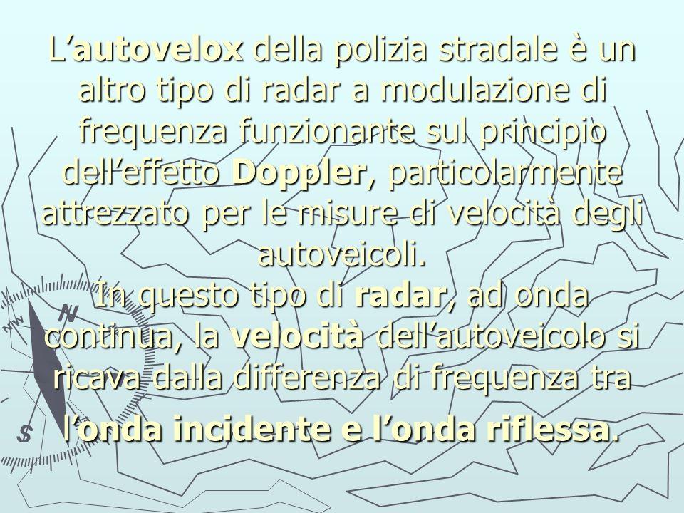 Lautovelox della polizia stradale è un altro tipo di radar a modulazione di frequenza funzionante sul principio delleffetto Doppler, particolarmente a