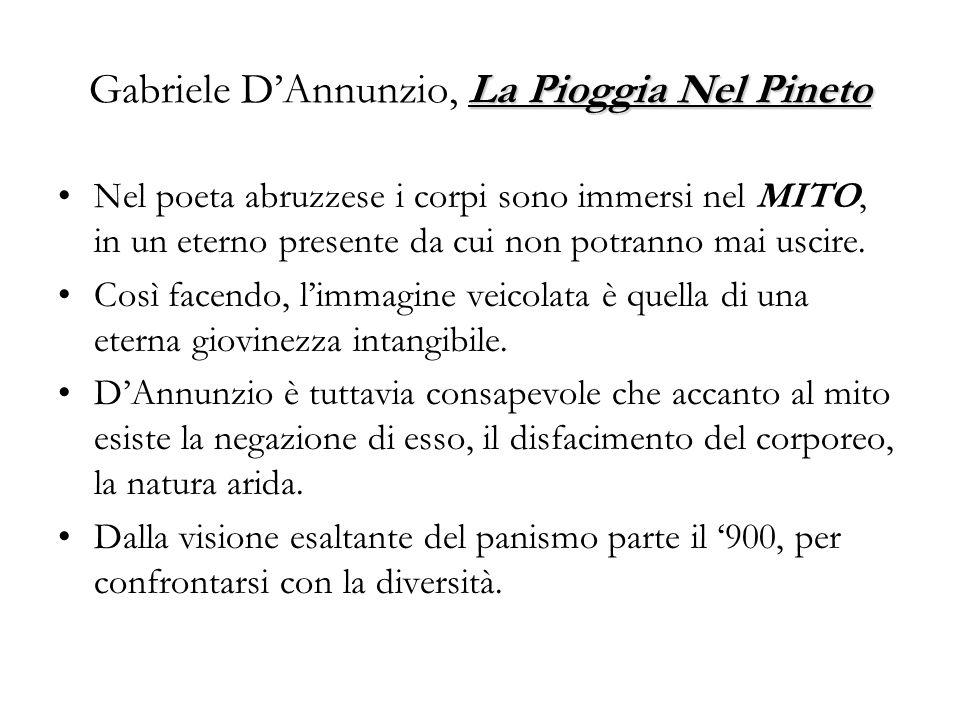 Pier Paolo Pasolini, Una disperata vitalità, da Poesia in forma di rosa (1964) Come in un film di Godard: solo/ in una macchina che corre per le autostrade/del Neo-capitalismo latino- di ritorno dallaeroporto-/ [là è rimasto Moravia, puro tra le sue valige]/ solo, pilotando la sua Alfa Romeo/ in un sole irriferibile in rime/ non elegiache, perché celestiale/ -il più bel sole dellanno-/ come in un film di Godard:/ sotto quel sole che si svenava immobile/ unico,/ il canale del porto di Fiumicino/ -una barca a motore che rientrava inosservata/ i marinai napoletani coperti di cenci di lana/ un incidente stradale, con poca folla intorno… -sono come un gatto bruciato vivo,/ pestato dal copertone di un autotreno,/ impiccato da ragazzi ad un fico,/ ma ancora almeno con sei/ delle sue sette vite,/ come un serpente ridotto a poltiglia di sangue/ unanguilla mezza mangiata/-le guance cave sotto gli occhi abbattuti,/ i capelli orrendamente diradati sul cranio/ le braccia dimagrite come quelle di un bambino/- un gatto che non crepa, Belmondo /che al volante della sua Alfa Romeo / nella logica del montaggio narcisistico/ si stacca dal tempo, e vinserisce/ Se stesso: (...)