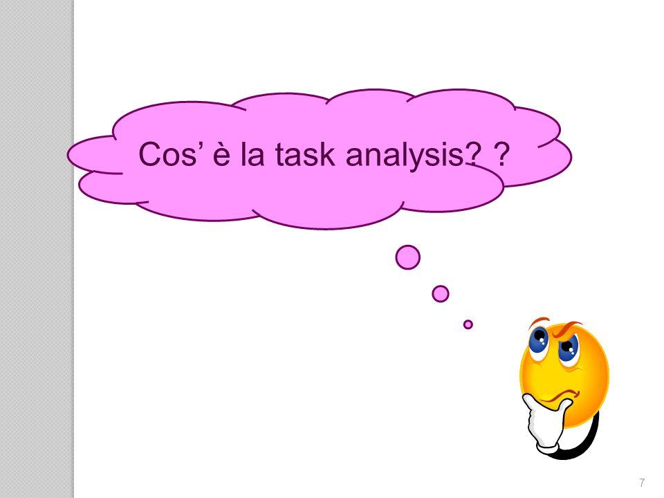 58 Ambiti di utilizzo della task analisys: 1.