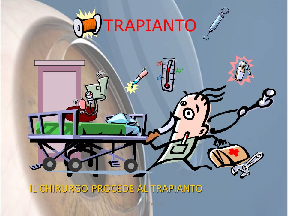 Banca Occhi Calabria14 TRAPIANTO IL CHIRURGO PROCEDE AL TRAPIANTO