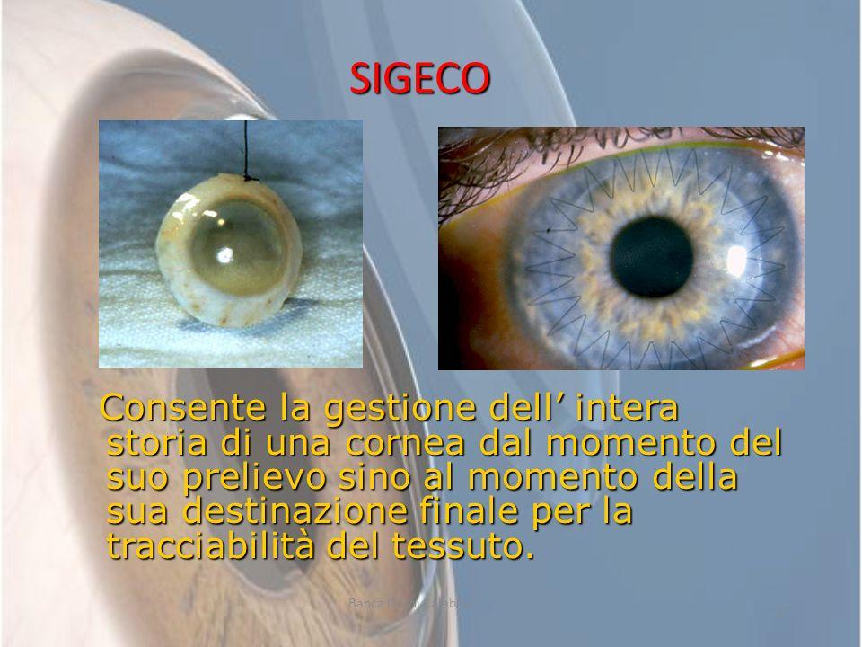 17 Consente la gestione dell intera storia di una cornea dal momento del suo prelievo sino al momento della sua destinazione finale per la tracciabili