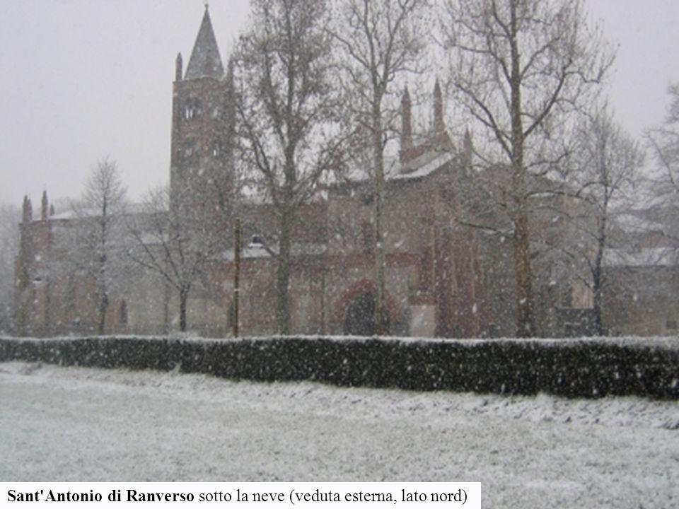 Sant'Antonio di Ranverso sotto la neve (veduta esterna, lato nord)