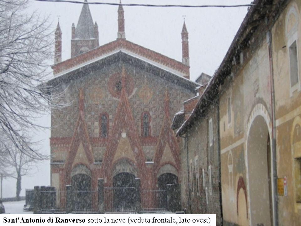 Sant'Antonio di Ranverso sotto la neve (veduta frontale, lato ovest)