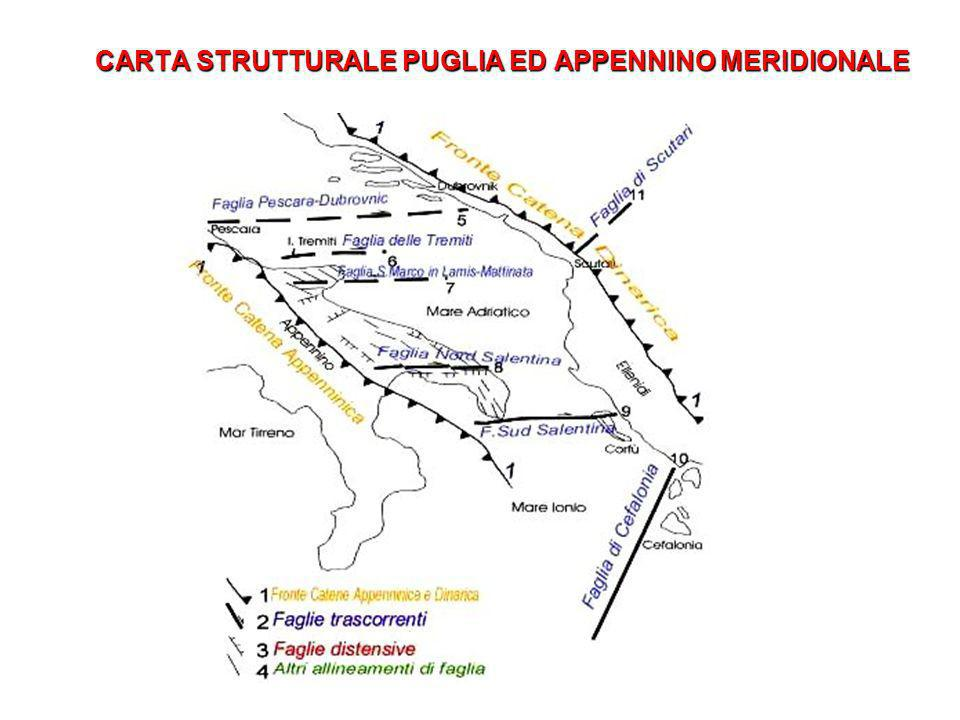 CARTA STRUTTURALE PUGLIA ED APPENNINO MERIDIONALE