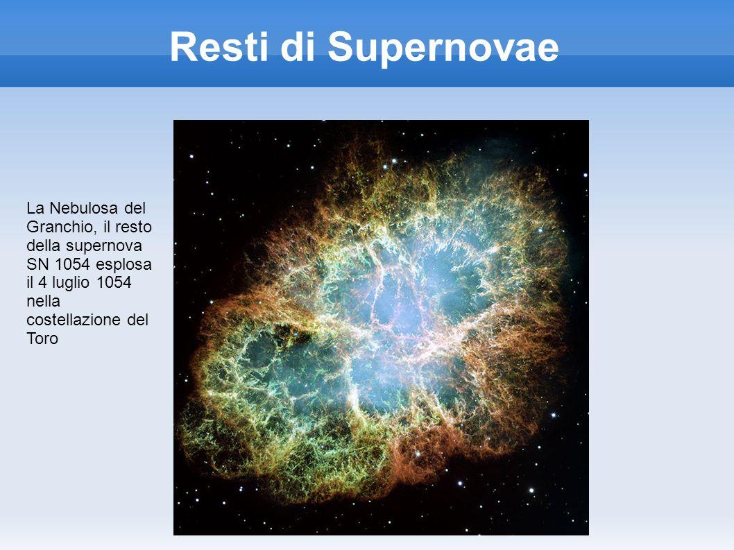 Resti di Supernovae La Nebulosa del Granchio, il resto della supernova SN 1054 esplosa il 4 luglio 1054 nella costellazione del Toro