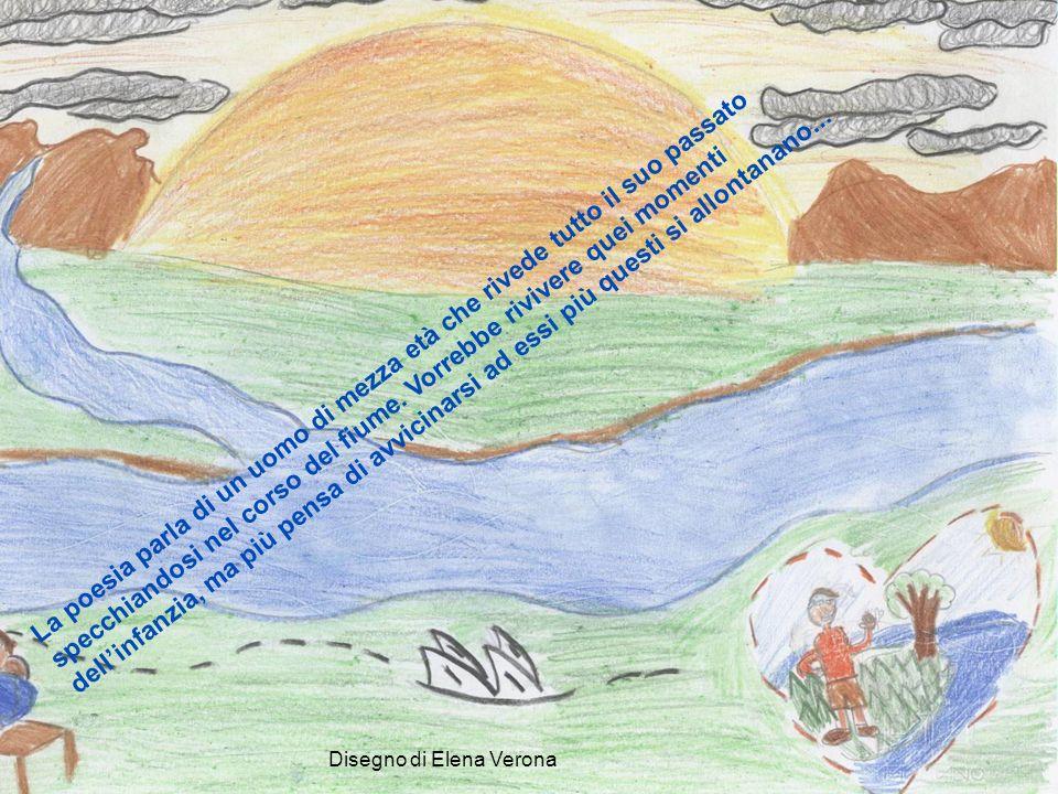 Disegno di Anna Bonci Oltre il testo: il confronto con San Martino La nebbia agli irti colli Piovigginando sale E sotto il maestrale Urla e biancheggia il mar.