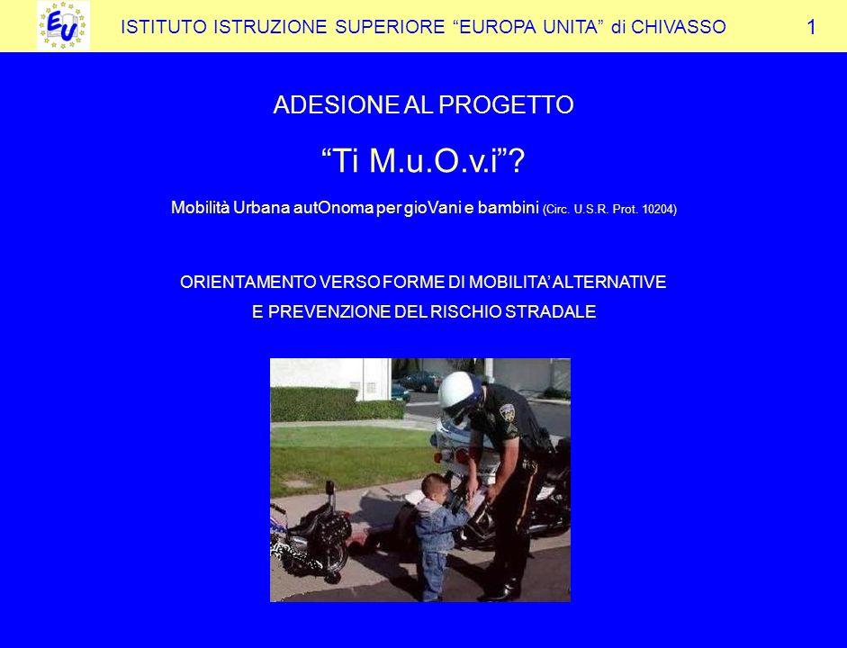 ISTITUTO ISTRUZIONE SUPERIORE EUROPA UNITA di CHIVASSO ADESIONE AL PROGETTO Ti M.u.O.v.i.