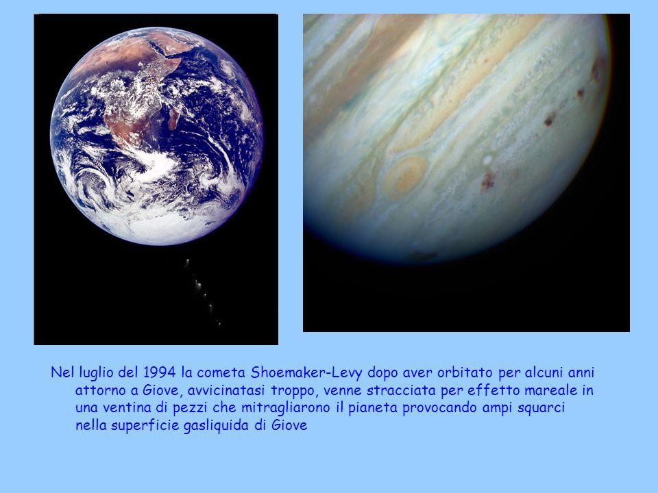 Nel luglio del 1994 la cometa Shoemaker-Levy dopo aver orbitato per alcuni anni attorno a Giove, avvicinatasi troppo, venne stracciata per effetto mar