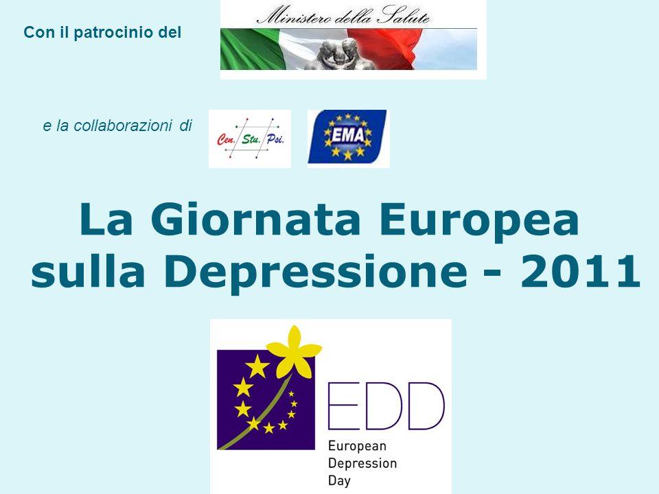 Con il patrocinio del e la collaborazioni di La Giornata Europea sulla Depressione - 2011