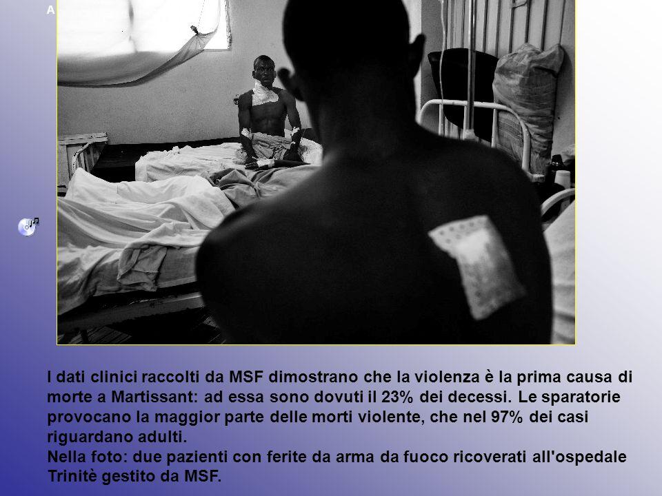 A Martissant (Haiti) la violenza è la prima causa di morte. I dati clinici raccolti da MSF dimostrano che la violenza è la prima causa di morte a Mart