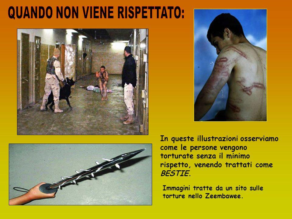 In queste illustrazioni osserviamo come le persone vengono torturate senza il minimo rispetto, venendo trattati come BESTIE. Immagini tratte da un sit