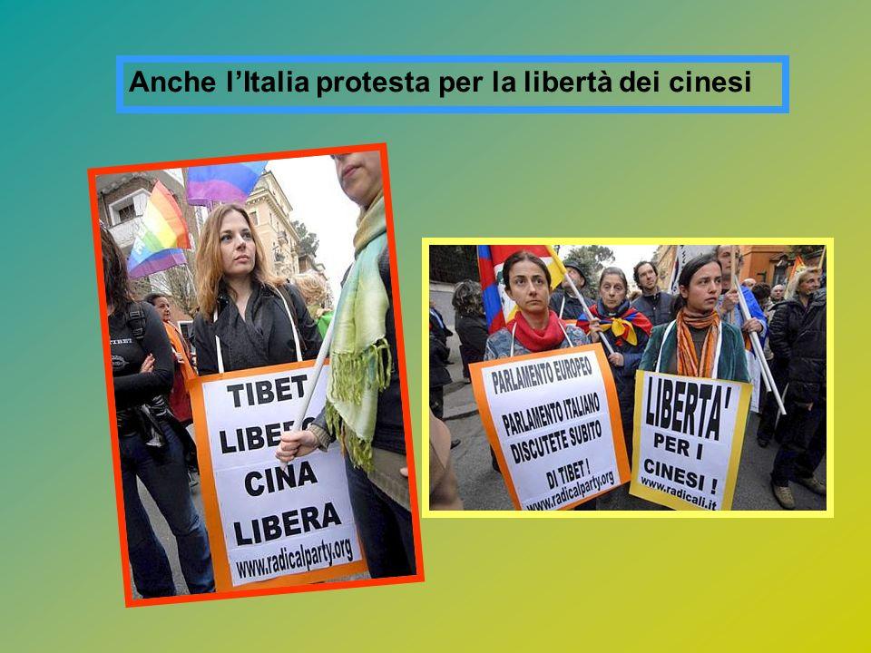 Anche lItalia protesta per la libertà dei cinesi