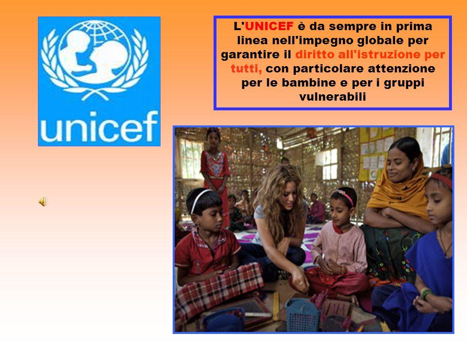 L'UNICEF è da sempre in prima linea nell'impegno globale per garantire il diritto all'istruzione per tutti, con particolare attenzione per le bambine