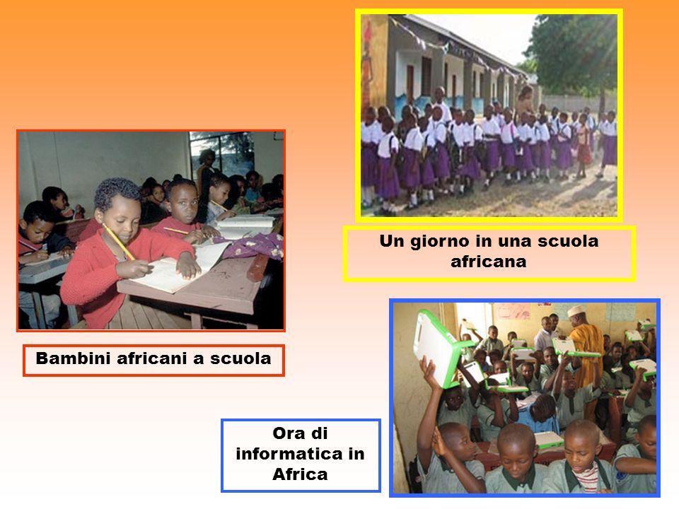 Bambini africani a scuola Un giorno in una scuola africana Ora di informatica in Africa