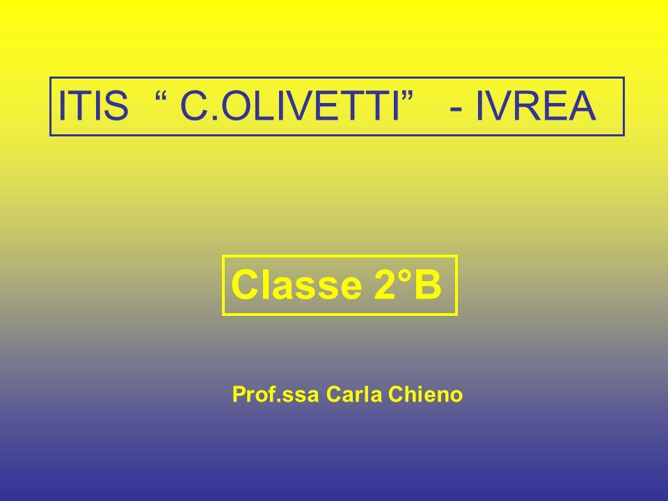 Classe 2°B Prof.ssa Carla Chieno ITIS C.OLIVETTI - IVREA