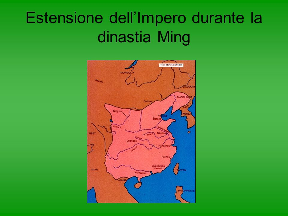 La dinastia Ming venne fondata nel 1368 da un monaco buddista di nome Zhu Yuan Zhan. Mise le idee del confucianesimo alla base della società cinese ch
