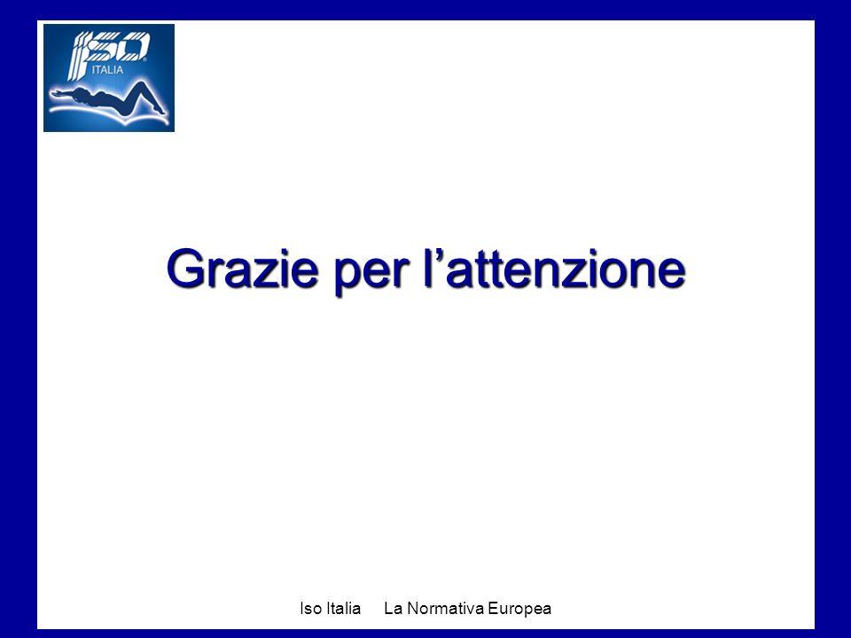 Iso Italia La Normativa Europea Grazie per lattenzione