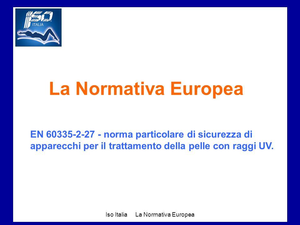 La Normativa Europea EN 60335-2-27 - norma particolare di sicurezza di apparecchi per il trattamento della pelle con raggi UV.