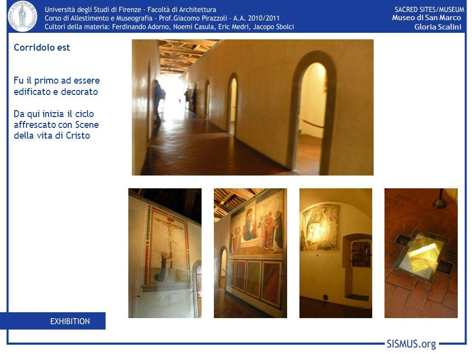 Corridoio est Fu il primo ad essere edificato e decorato Da qui inizia il ciclo affrescato con Scene della vita di Cristo Museo di San Marco Gloria Sc