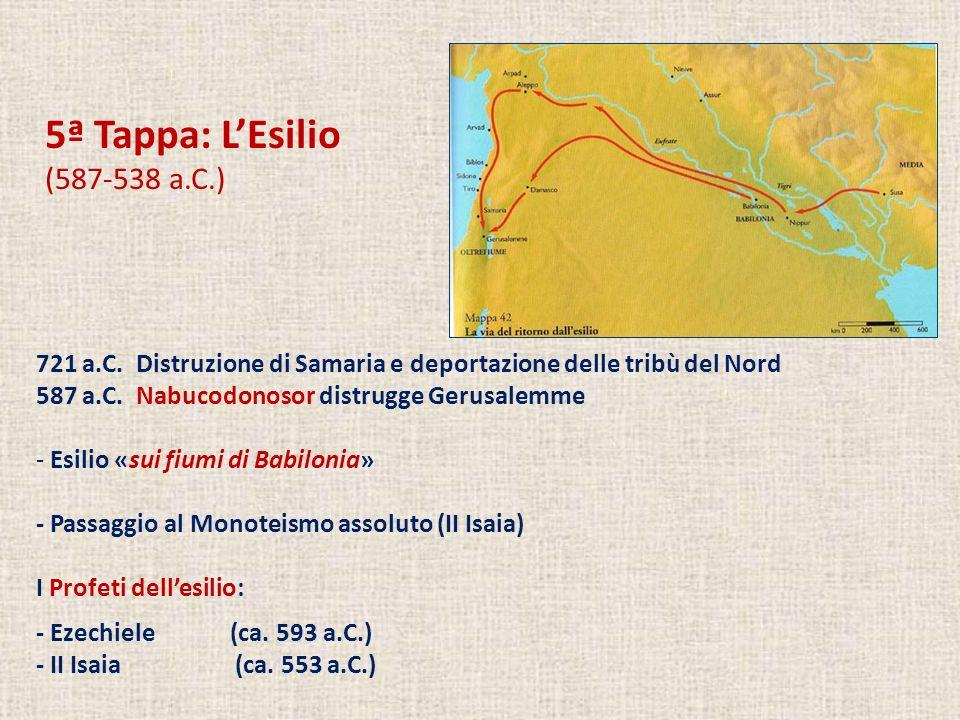 5ª Tappa: LEsilio (587-538 a.C.) 721 a.C.
