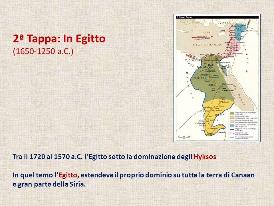 2ª Tappa: In Egitto (1650-1250 a.C.) Tra il 1720 al 1570 a.C.