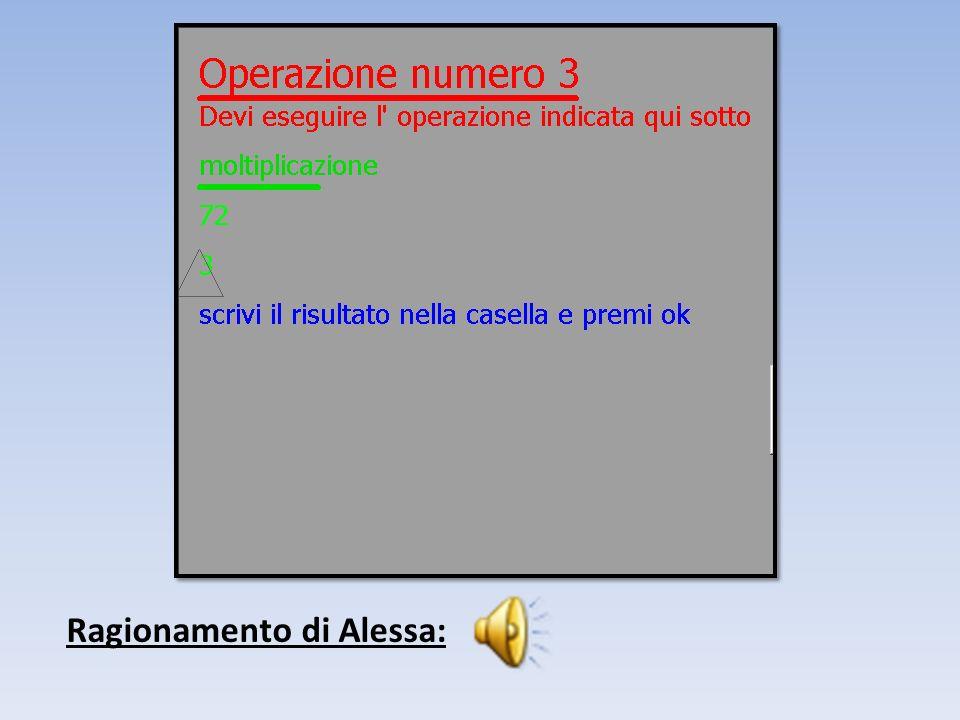 Ragionamento di Alessa: