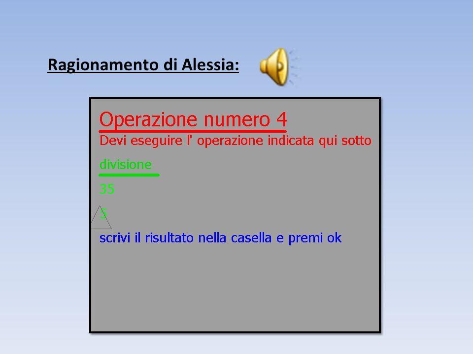 Ragionamento di Alessia: