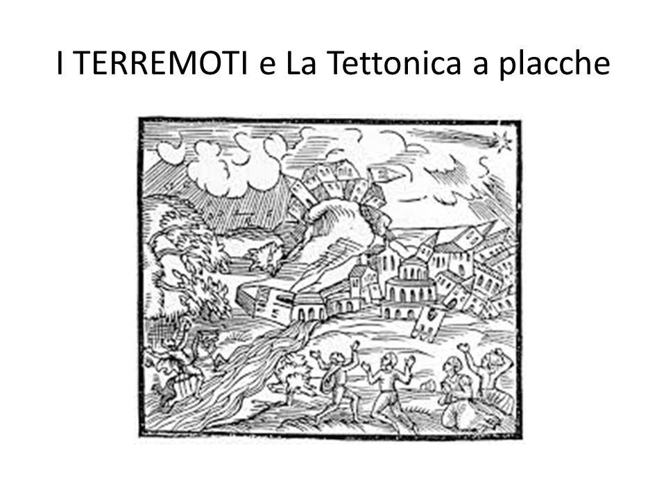 Il terremoto La sorgente sismica (o terremoto) può essere definita come una dislocazione di taglio, in pratica uno spostamento di masse rocciose, che si propaga ad alta velocità sulla superficie di una FAGLIA per effetto dello sforzo tettonico presente nella litosfera.