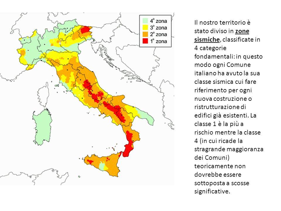 Il nostro territorio è stato diviso in zone sismiche, classificate in 4 categorie fondamentali: in questo modo ogni Comune italiano ha avuto la sua cl